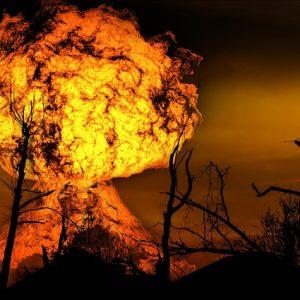 爆発炎上の画像